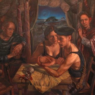 "After Me Comes The Flood' – oil on canvas fine art painting (44"" high by 46"" wide), completed in 2008"